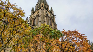 Autumn colours by the parish church in Preston | by Tony Worrall