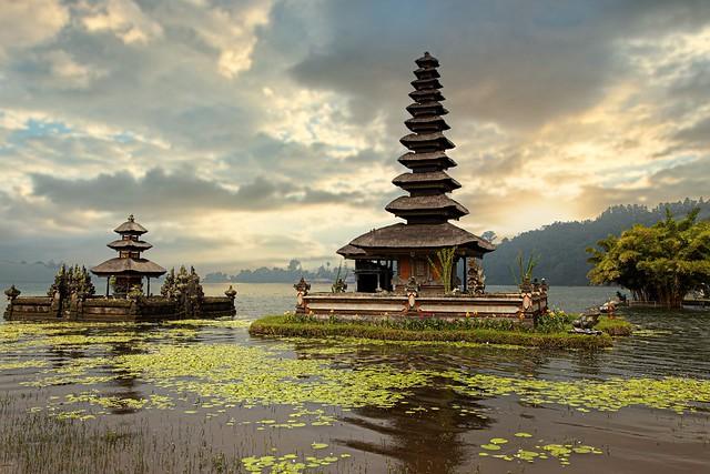 temple in lake Bratan, Bali, Indonesia