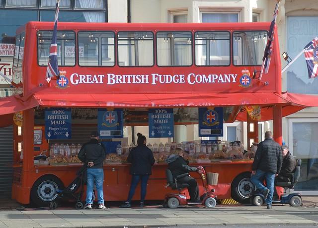 Great British Fudge Company big red bus