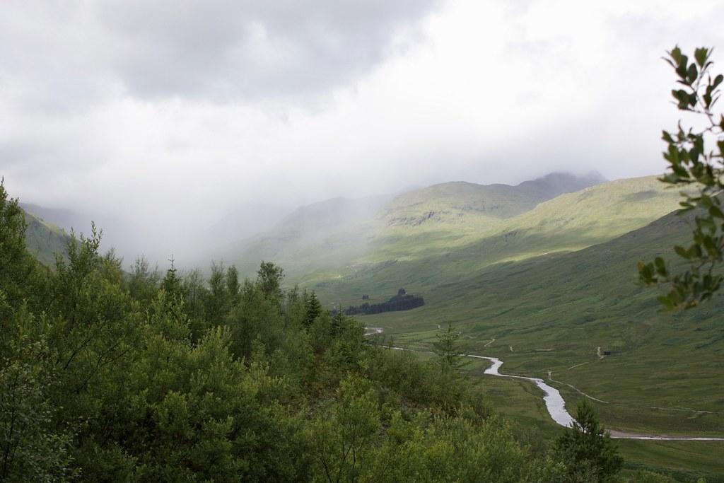 Shower over Glen Lochay