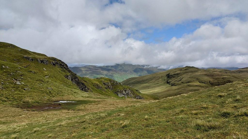 The east ridge of Meall a' Churain