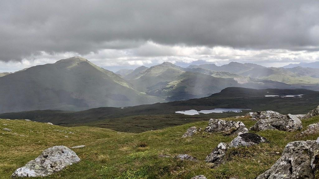Crianlarich hills from Beinn nan Imirean