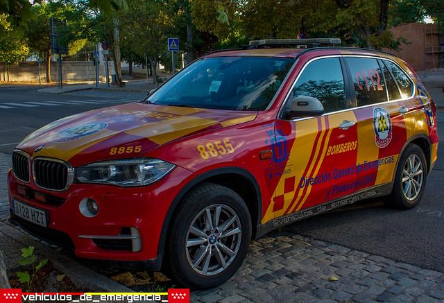 bmw x5 perteneciente a la Dirección General de emergencias y Protección civil de Madrid