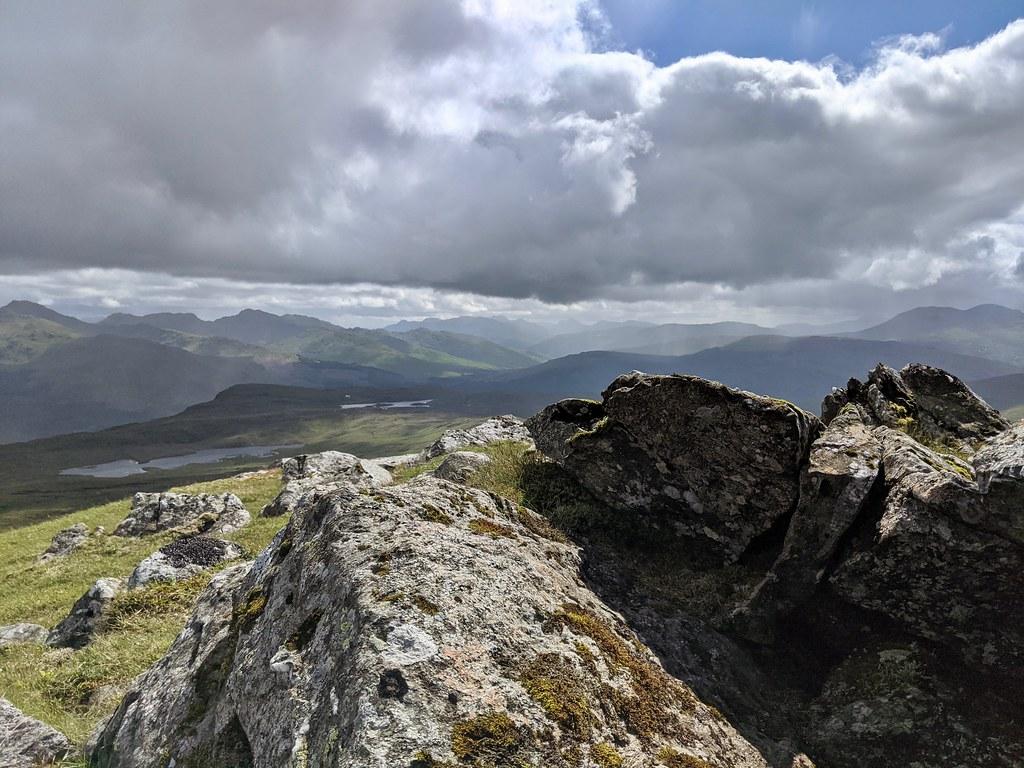 West from Beinn nan Imirean