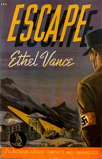 """""""Escape"""" by Ethel Vance (Grace Zaring Stone). Pocket Books 149 (March, 1942). First Printing. Movie tie-in. Uncredited cover art."""