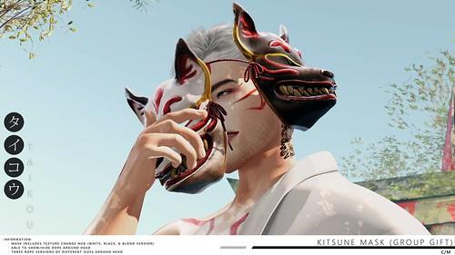 taikou / kitsune mask (group gift)