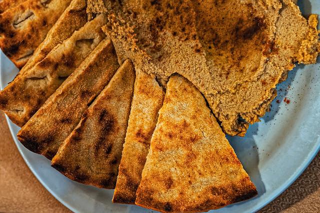 Plate of Homemade Hummus ( Sinialo Taverna - Myrina Town - Lemnos)  (Ricoh GR3 Compact) (1 of 1)