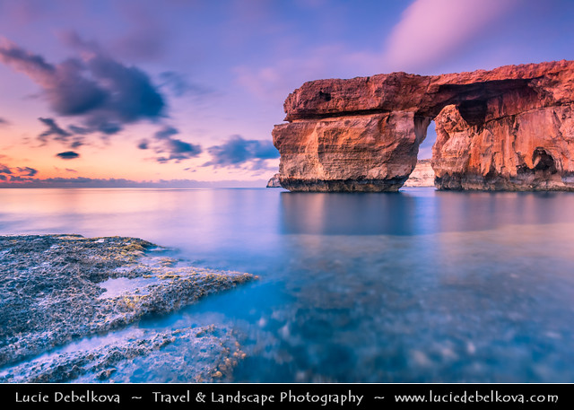 Malta - Island of Gozo - Azure Window during Sunset