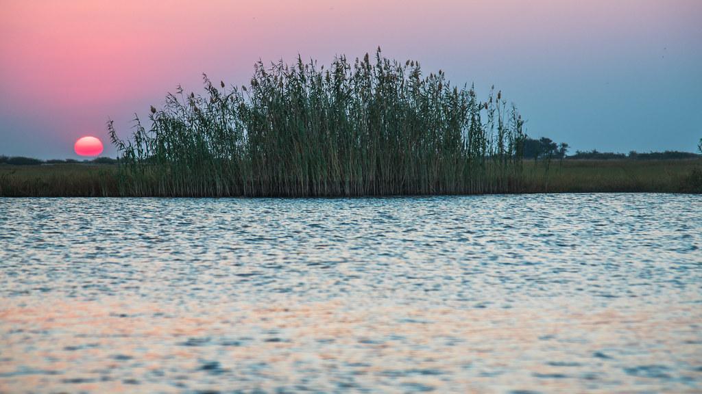Border Sunset in Africa