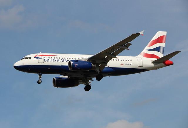 G-EUPT Airbus A319-131 British Airways