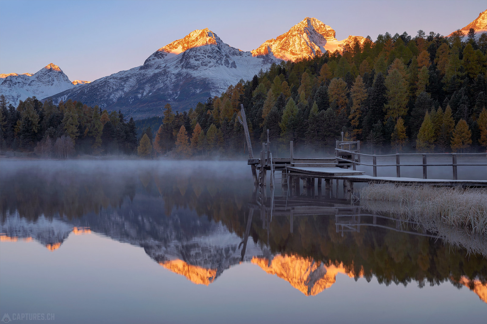 First light at the mountains - Stazersee