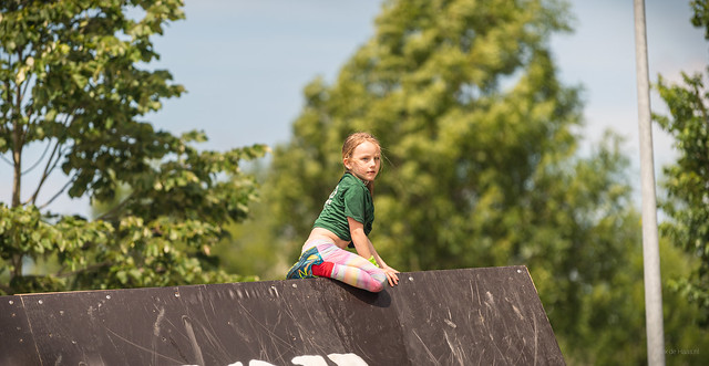 Young obstacle runner.