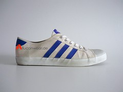 1982 VINTAGE ADIDAS ADRIA TENNIS / LEISURE CANVAS SPORT SHOES