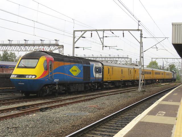 43050 TNT 43060 on 1Q27 Derby R.T.C. - Derby R.T.C. via Stockport HST COLAS RAIL Loco Test Run 18/10/2020