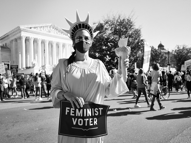 Lady Liberty is a Feminist Voter