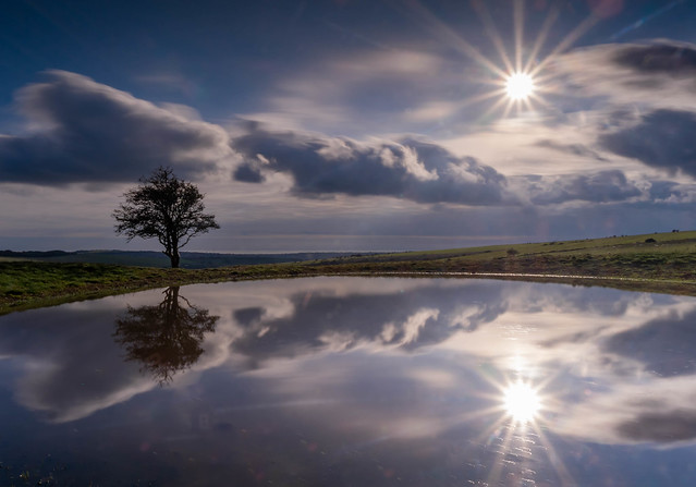 Ditchling Beacon pond.