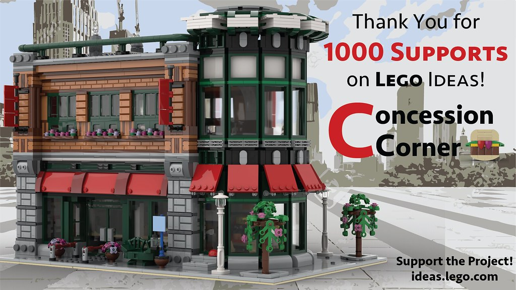 LEGO Concession Corner hits 1000 Supporters