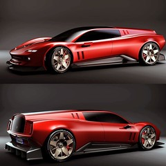 Antonio Bruno's Kammback concept is an electrified homage to the one-off Ferrari 250 GT SWB (aka 'Breadvan') designed by Piero Drogo's Carrozzeria Sports Cars, a short-lived carrozzeria from Modena. Based on a 250 GT SWB Competition, the car's Kamm tail w