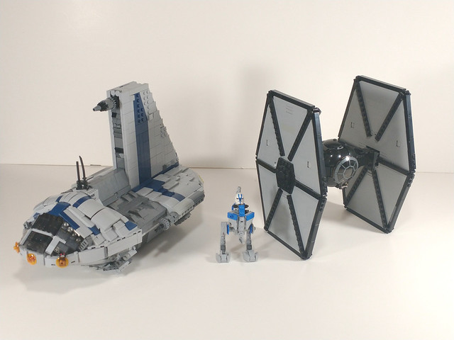 Minifig scale separatist shuttle, tie fighter, and atrt  mocs