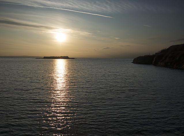 Sunrise over Fort Raz, Alderney