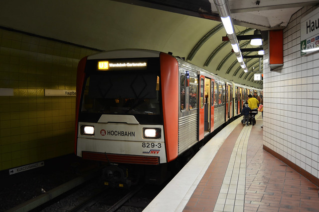HHA DT3E 829 Hauptbahnhof Süd