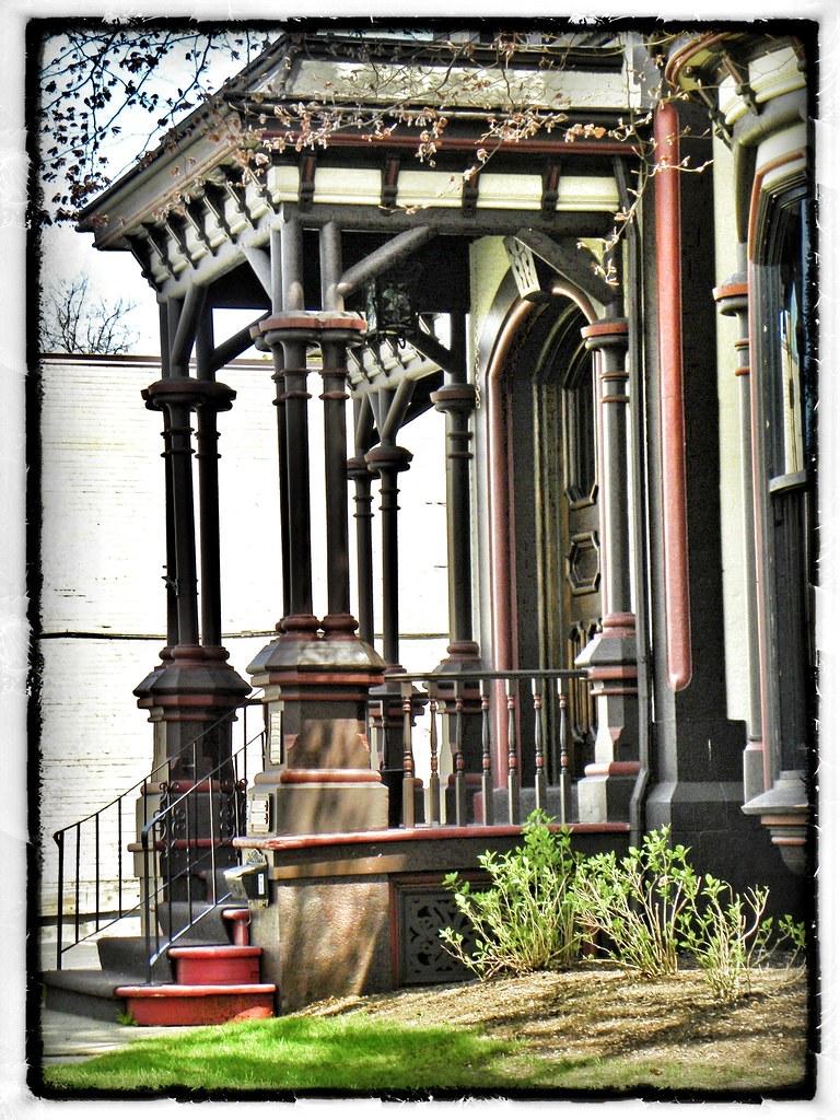 Fairport - New York - Home of Henry Addison DeLand - Historic - Portico