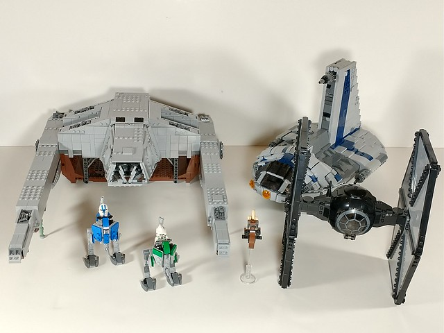 All of my minifig scale ships together at last!