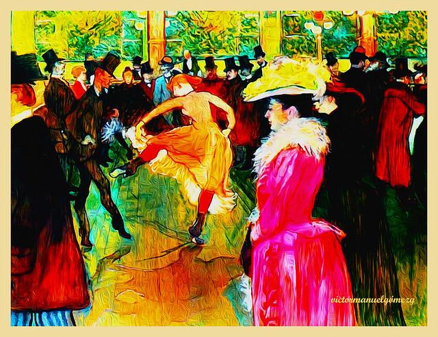 MOULIN ROUGE. Recreating Tolouse Lautrec.