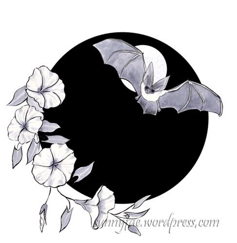 12 bat and bindweed flowers