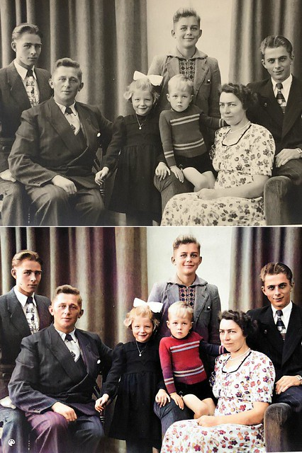 Kras Family Portrait, Holland ca 1940s or 1950s