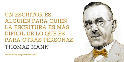 Cita sobre la escritura de Thomas Mann
