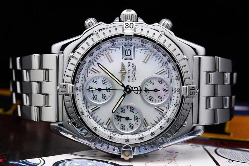 Breitling Chronomat GT SS MOP dial A137A53PA