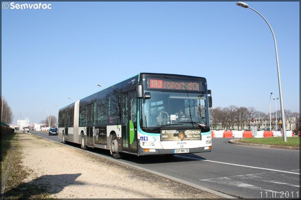 Man Lion's City G – RATP (Régie Autonome des Transports Parisiens) / STIF (Syndicat des Transports d'Île-de-France) n°4620