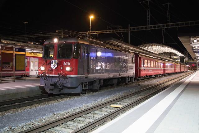 Rhätische Bahn Ge 4/4 II No.  616 at Chur