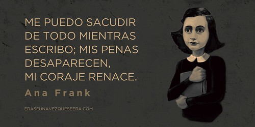 Cita sobre la escritura de Ana Frank