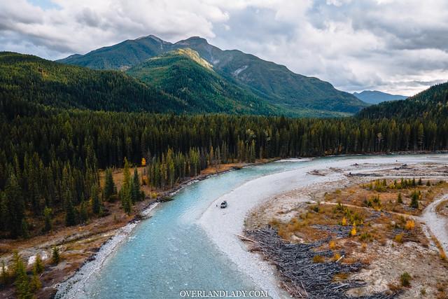 solo overlanding in Canadain Rockies