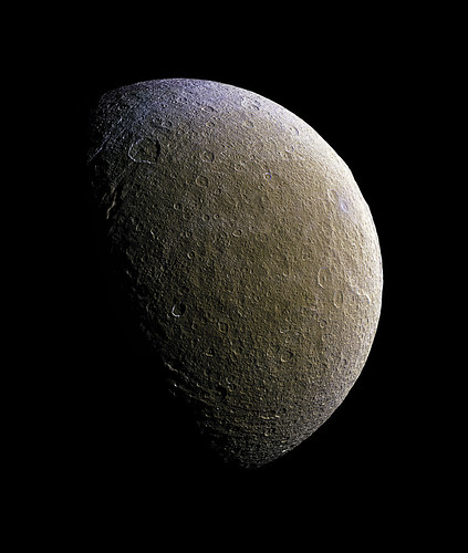 Rhea - PIA19057 Enhanced | by Processing Planetary Images & Enhancements For Fun