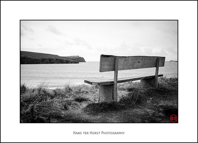Shetlands: Bench with view of St Ninian's Isle
