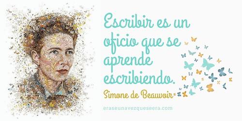 Cita sobre la escritura de Simone de Beauvoir