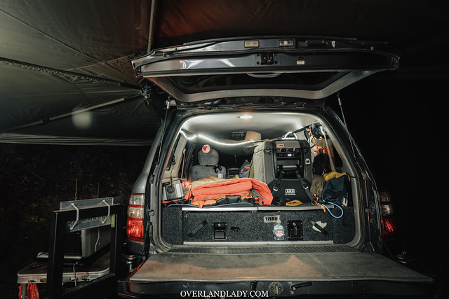 Landcruiser 100 series. sleeping platform inside the car