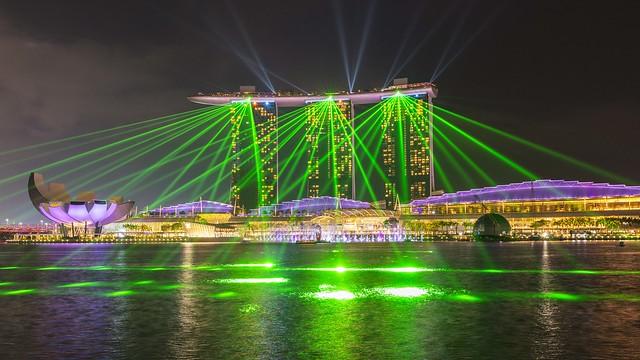 Laser Show at Marina Bay Sands