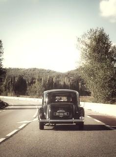 Sur la route.