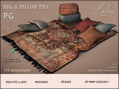 Lalou - Rug & Pillow Pile @ Cosmo Event