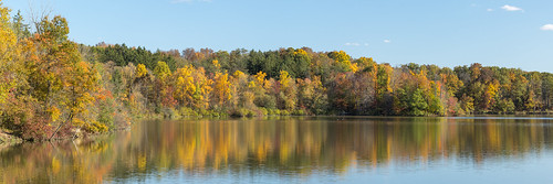 clevelandmetroparks colors fall foliage hinckleylake lake ohio park reflection trees