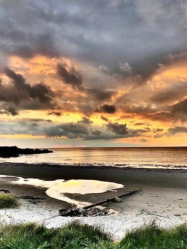 argyllhotel bellochantuy reflection beach sunset scotland kintyre