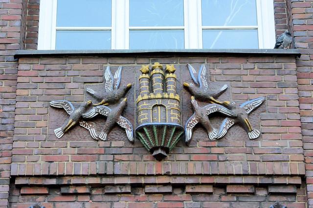 0240 Dienstgebäude der Finanzbehörde Hamburg, ehem. Finanzdeputation am Gänsemarkt in der Hamburger Neustadt.