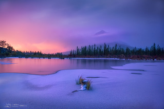 Canadian Rocky Autumn Series 9 - Vermilion Lake Before Sunrise | by Celia W Zhen