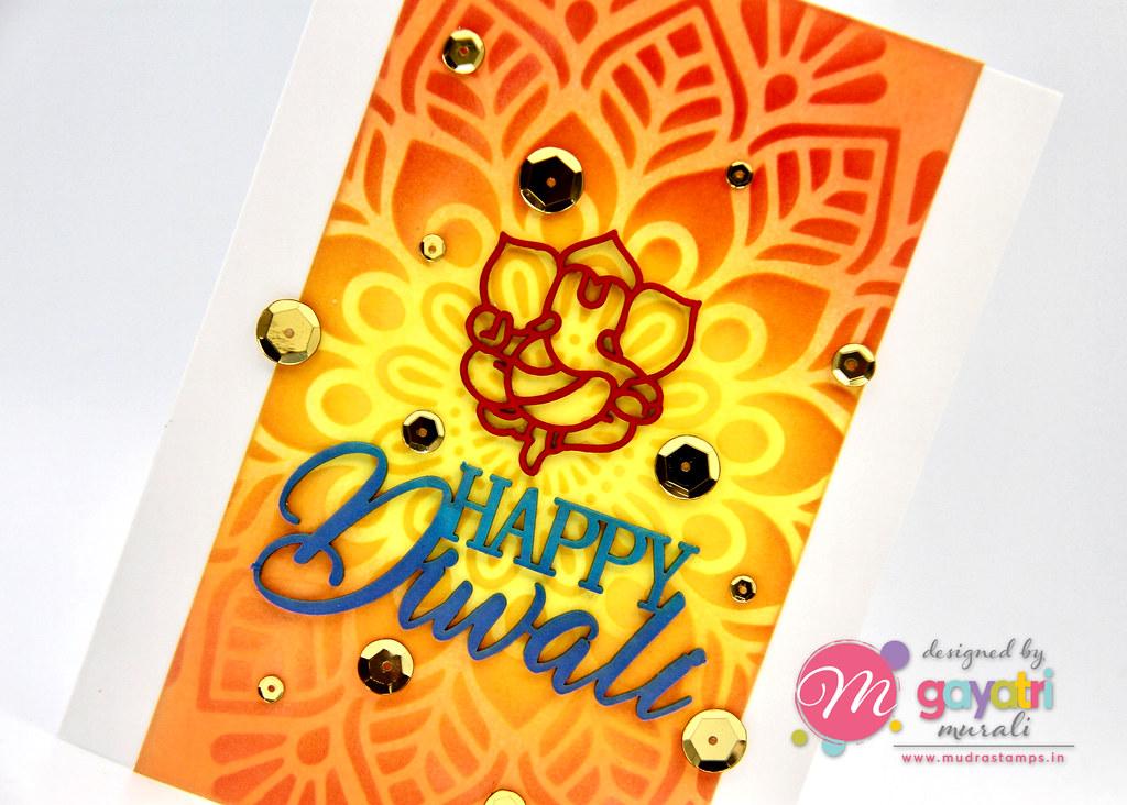HappyDiwali card #1 closeup1