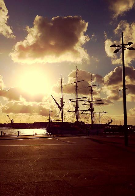 Coucher de soleil sur Saint-Malo.