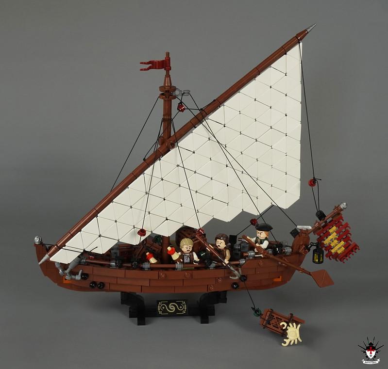 Venice 1486 - Fishing Sailship (display)